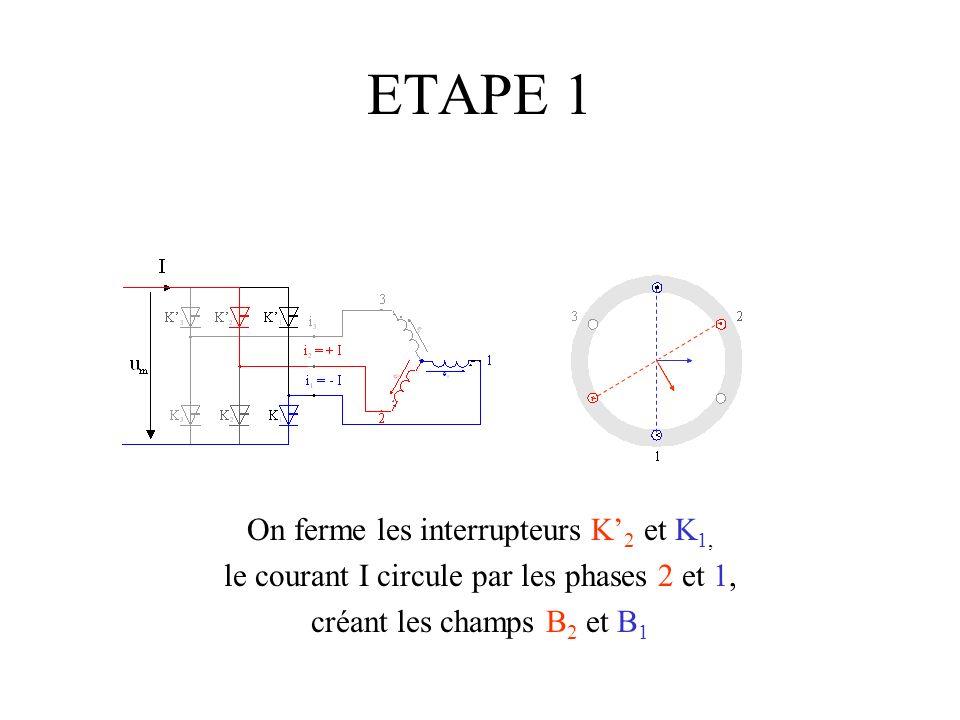 ETAPE 1 On ferme les interrupteurs K'2 et K1,