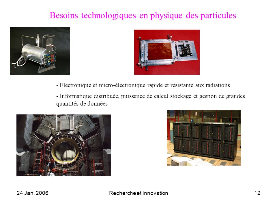 Besoins technologiques en physique des particules