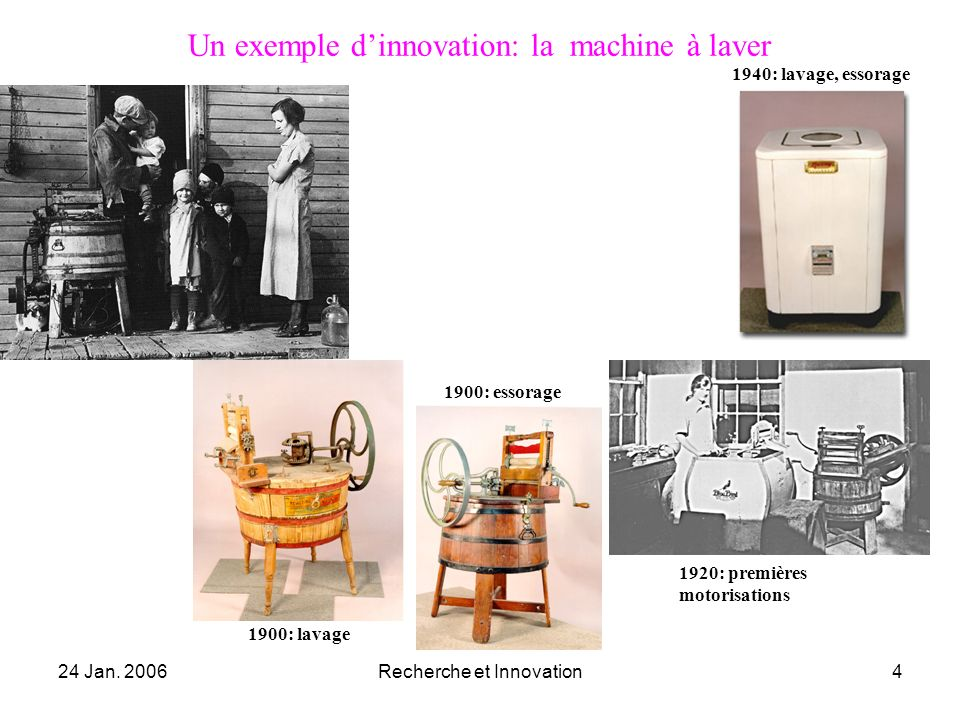 Un exemple d'innovation: la machine à laver