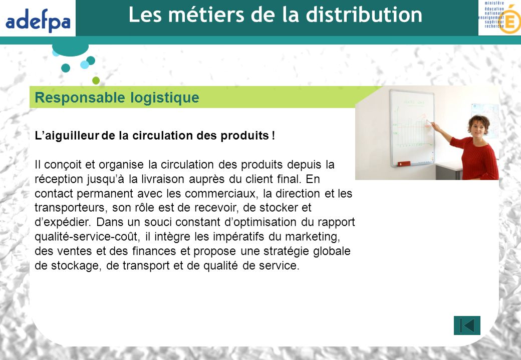 Les métiers de la distribution
