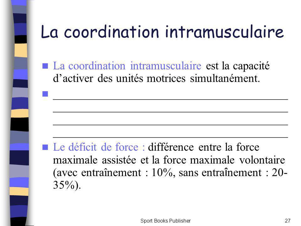 La coordination intramusculaire