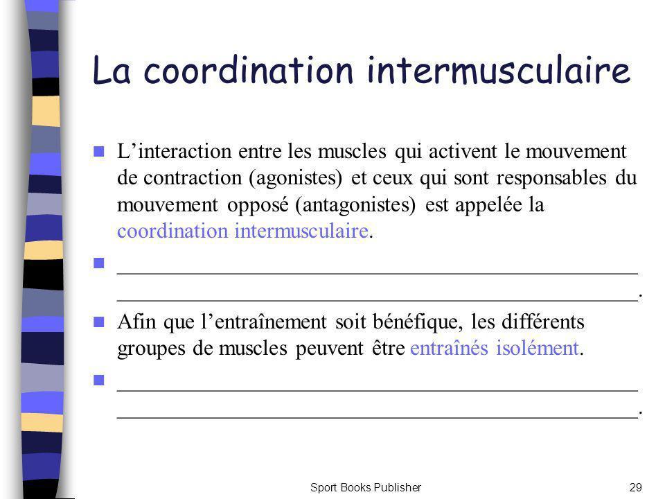 La coordination intermusculaire