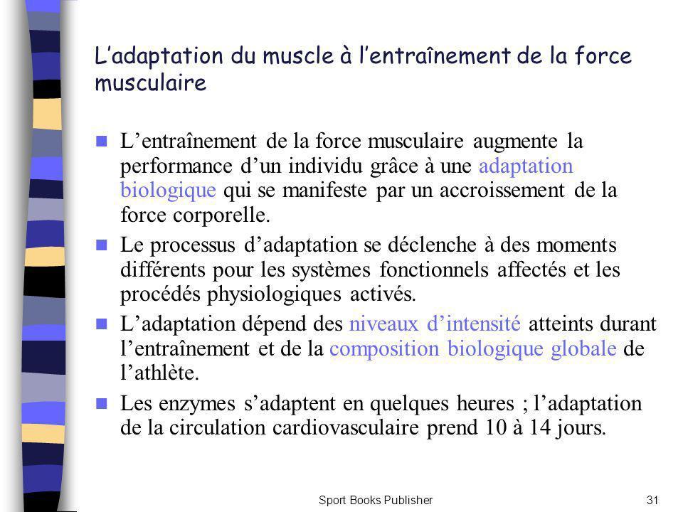 L'adaptation du muscle à l'entraînement de la force musculaire