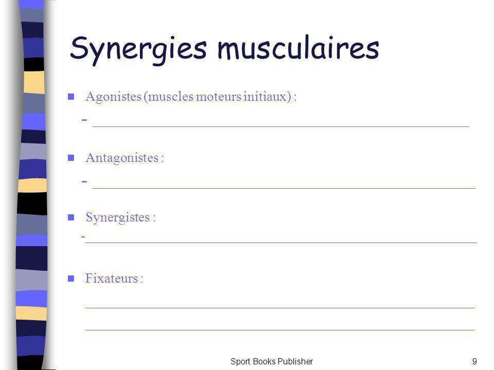 Synergies musculaires