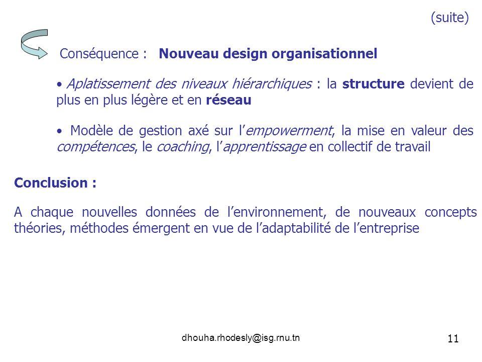 Nouveau design organisationnel