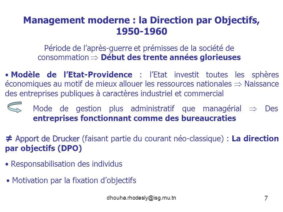 Management moderne : la Direction par Objectifs, 1950-1960