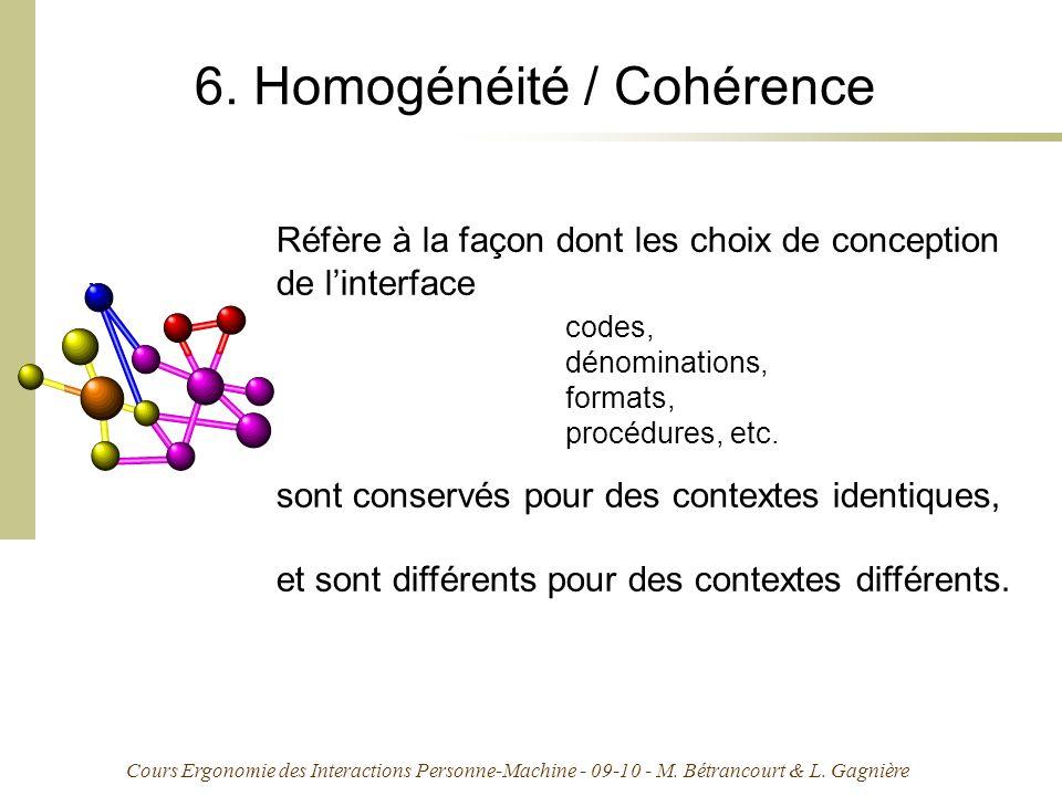 6. Homogénéité / Cohérence