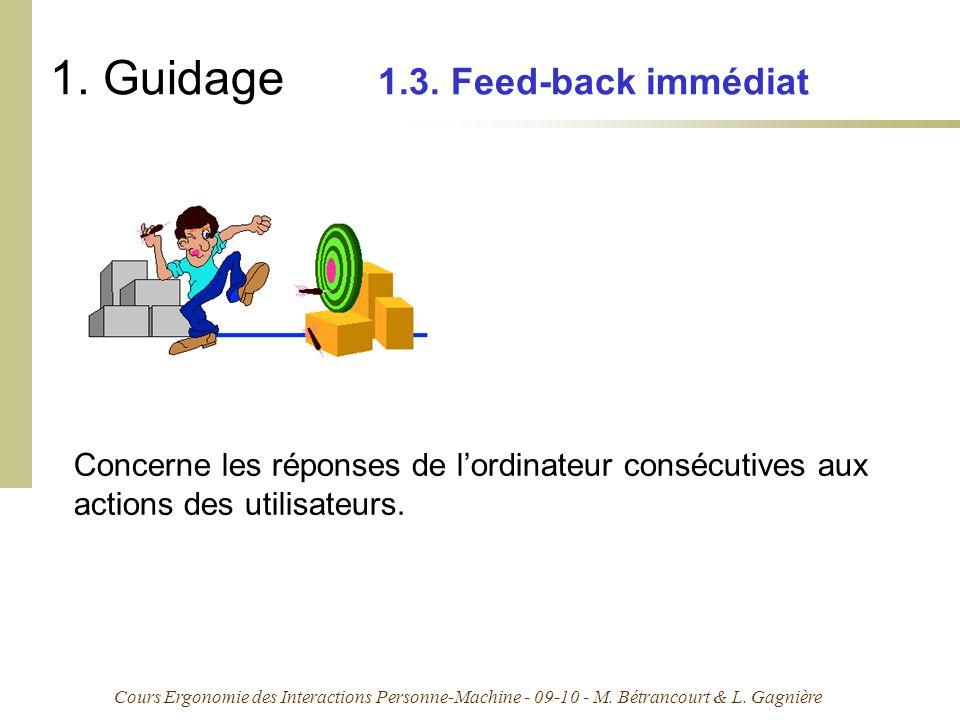 1. Guidage 1.3. Feed-back immédiat