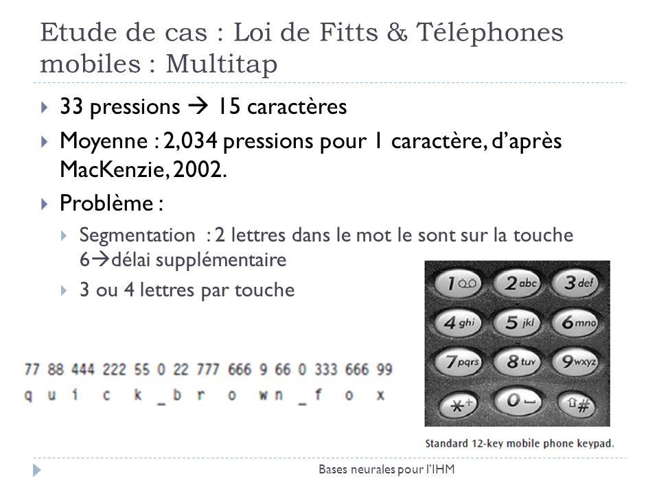 Etude de cas : Loi de Fitts & Téléphones mobiles : Multitap