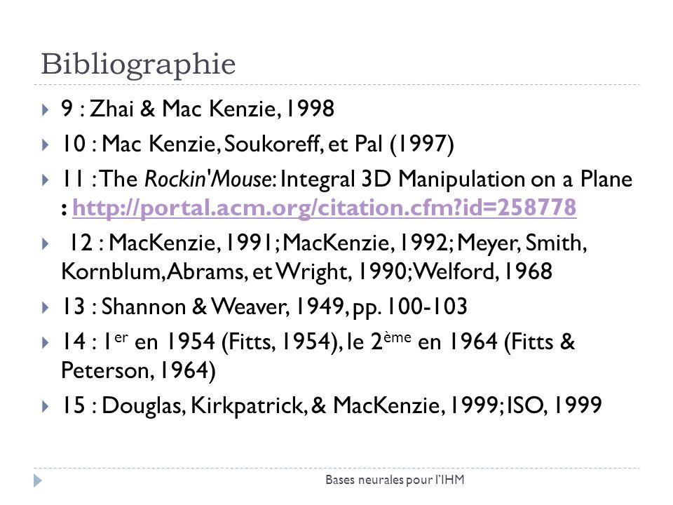 Bibliographie 9 : Zhai & Mac Kenzie, 1998