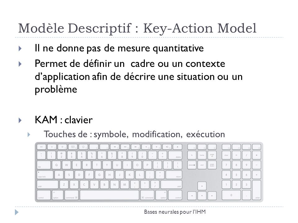 Modèle Descriptif : Key-Action Model