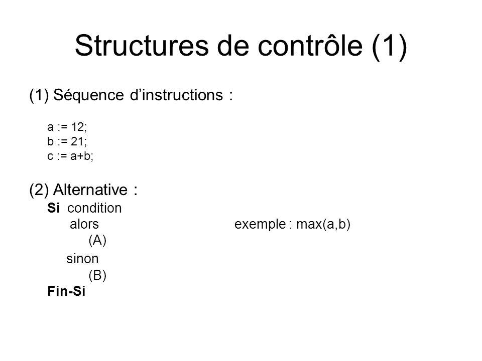 Structures de contrôle (1)