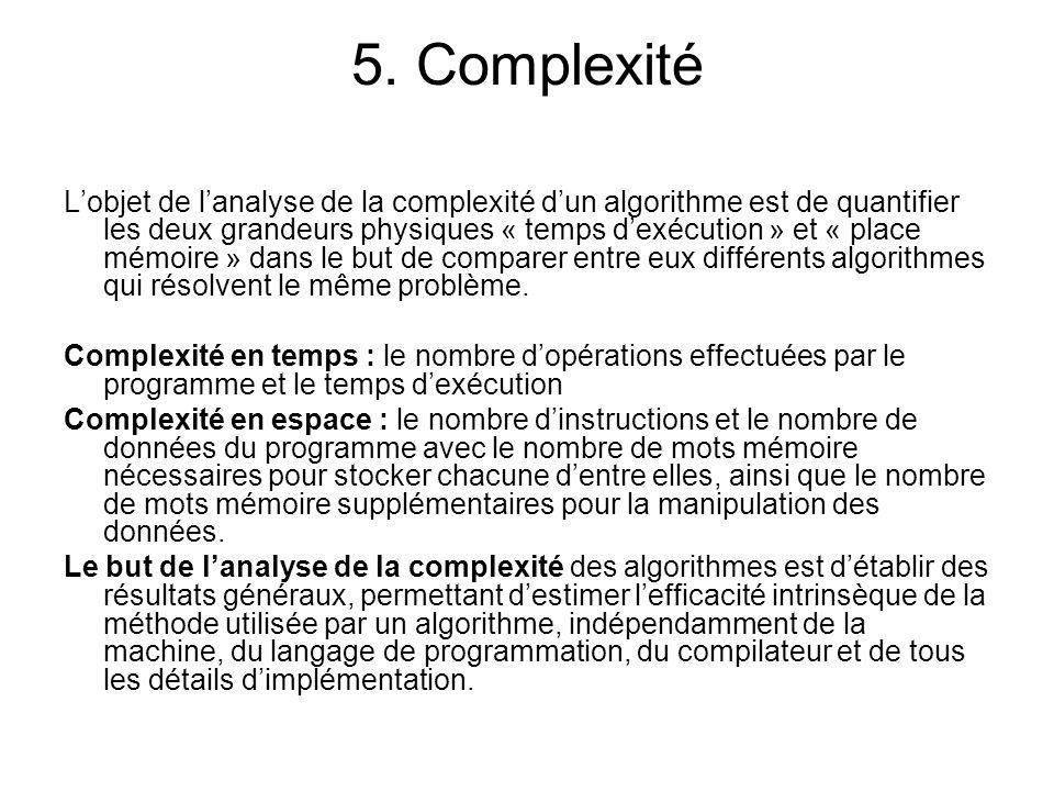 5. Complexité