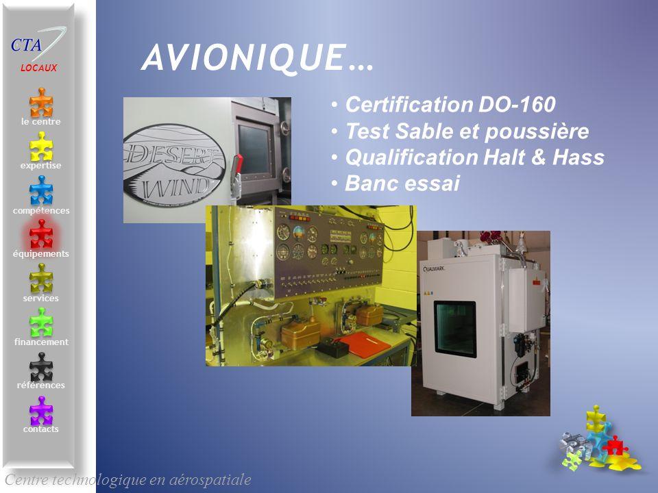 AVIONIQUE… Certification DO-160 Test Sable et poussière