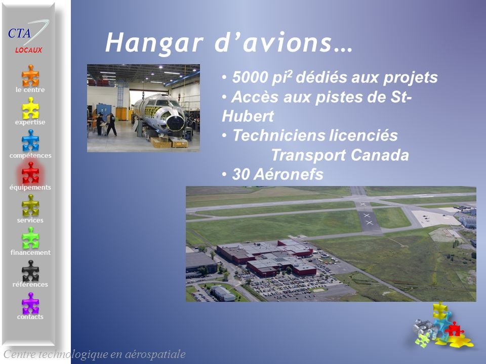 Hangar d'avions… 5000 pi2 dédiés aux projets