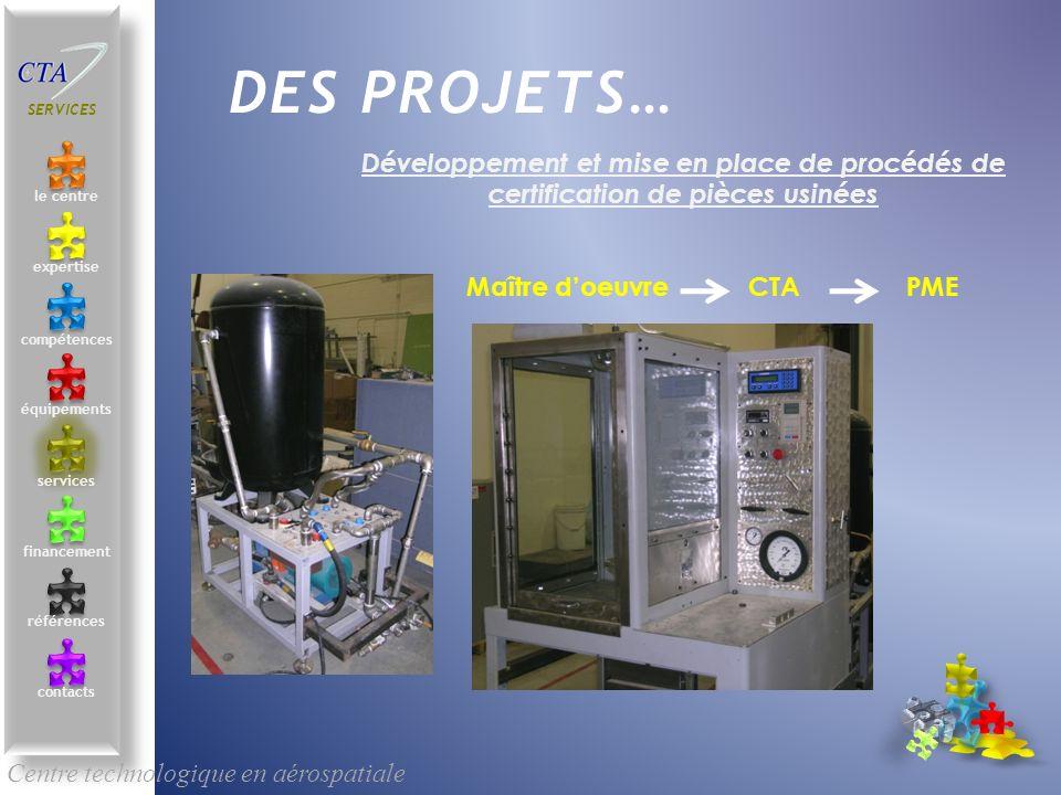DES PROJETS… Centre technologique en aérospatiale