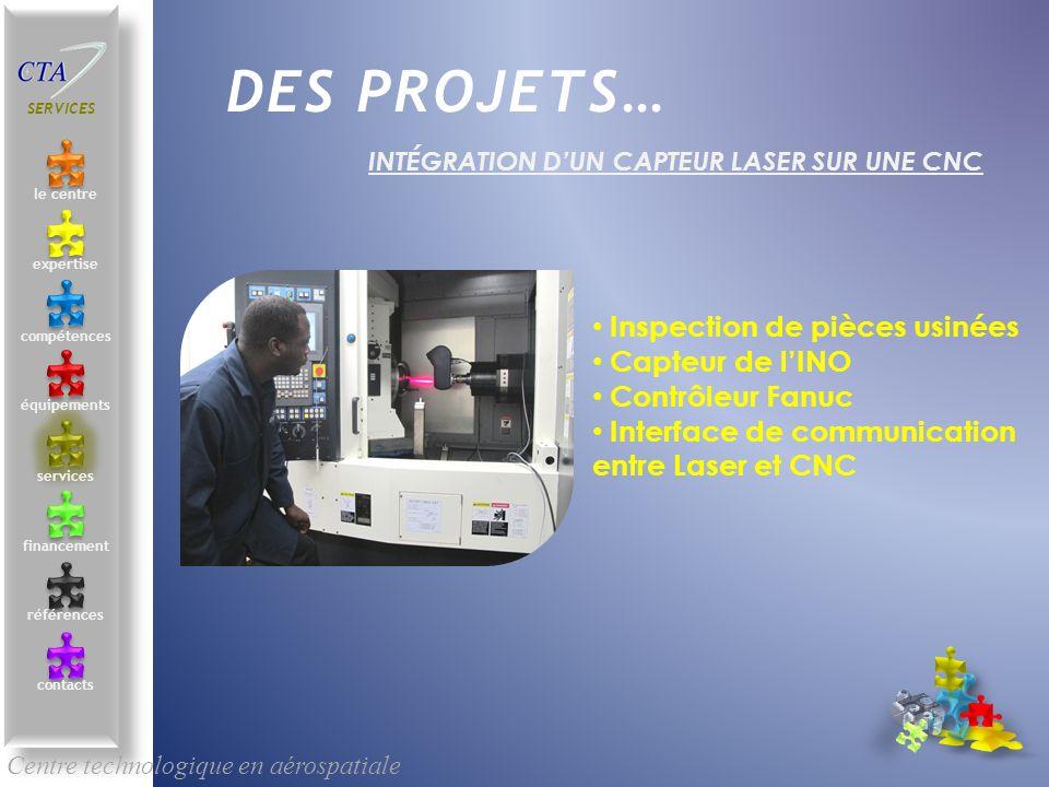 INTÉGRATION D'UN CAPTEUR LASER SUR UNE CNC