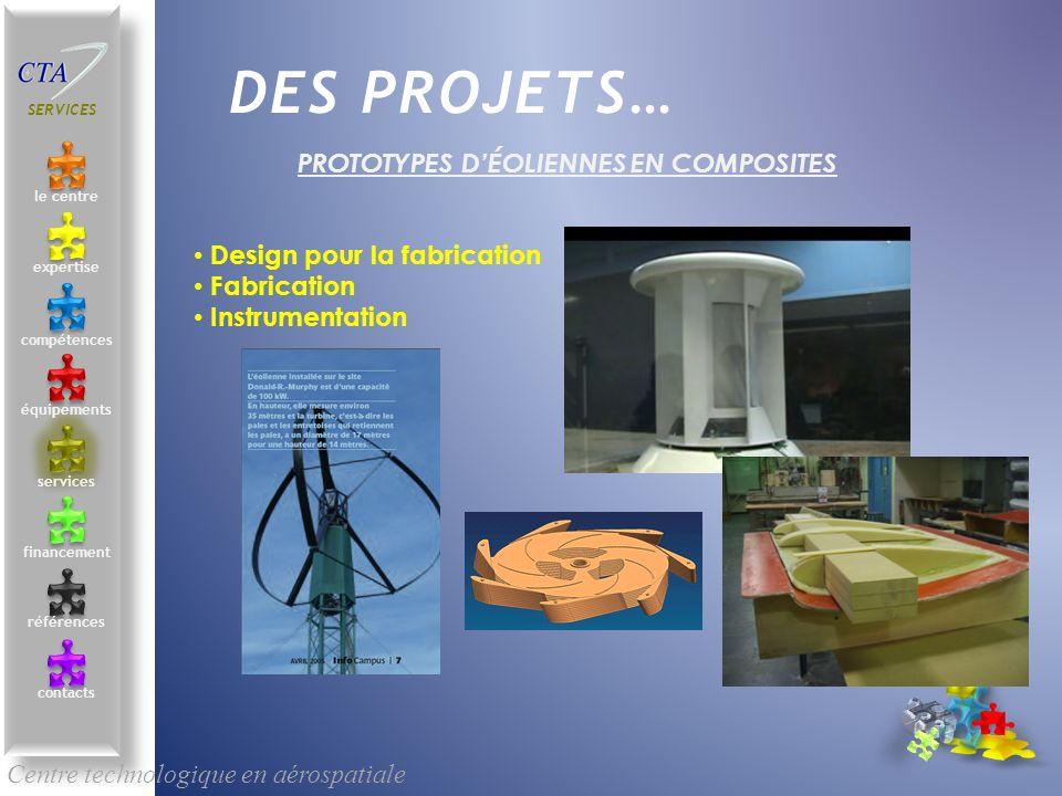 Prototypes d'éoliennes en composites