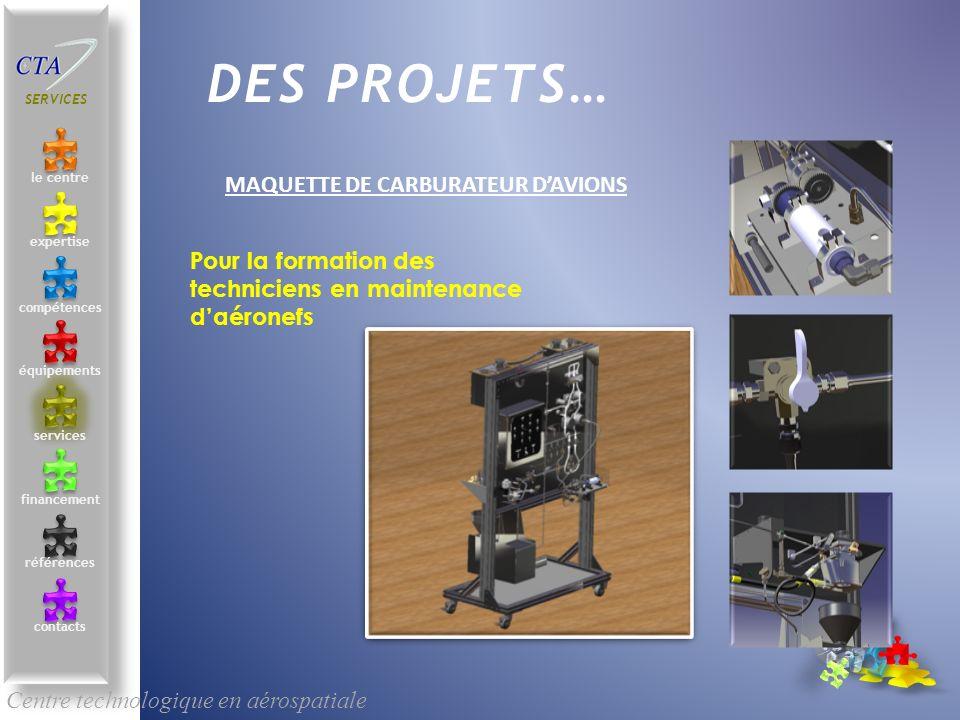 DES PROJETS… Maquette de carburateur d'avions