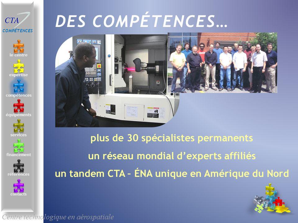 DES COMPÉTENCES… plus de 30 spécialistes permanents