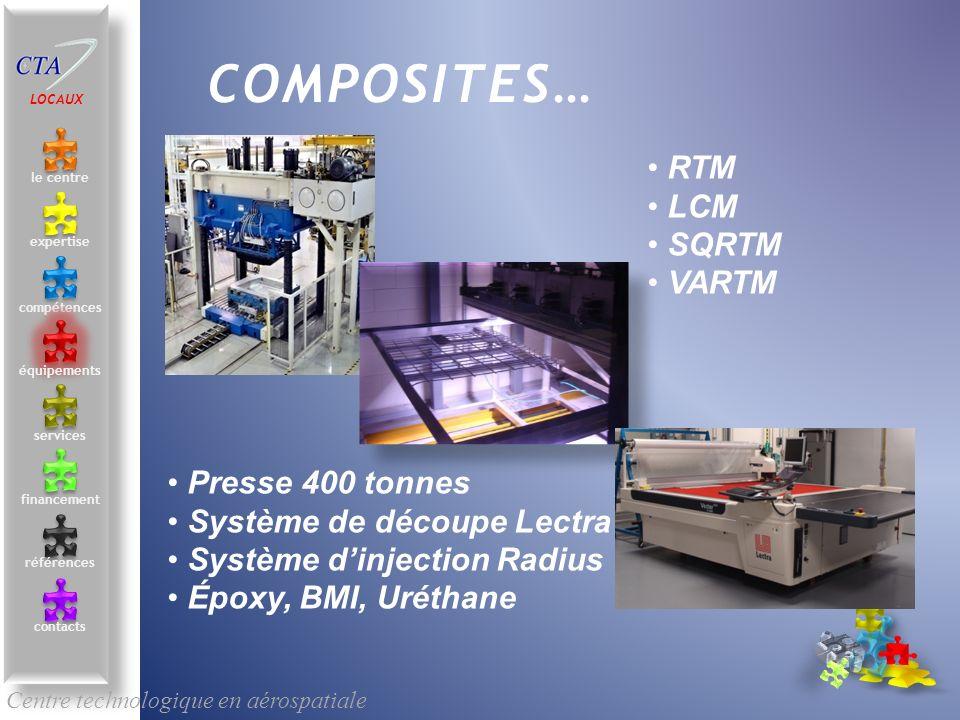 COMPOSITES… RTM LCM SQRTM VARTM Presse 400 tonnes