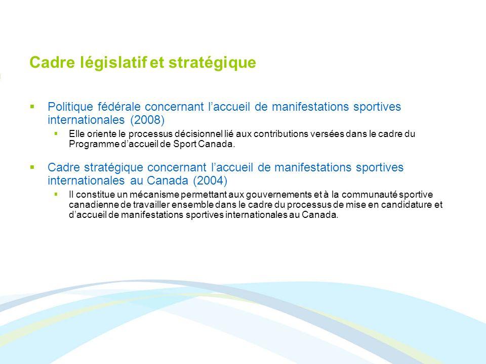 Cadre législatif et stratégique