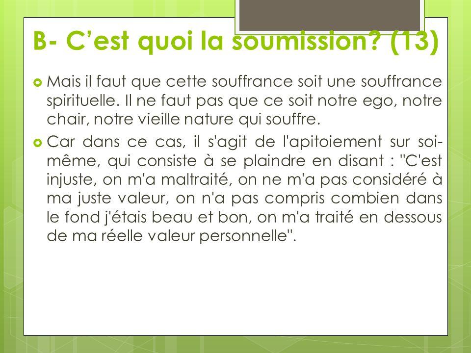 B- C'est quoi la soumission (13)