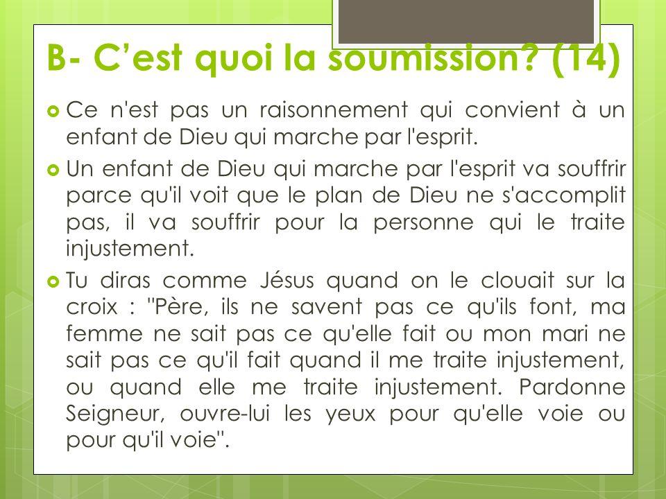 B- C'est quoi la soumission (14)