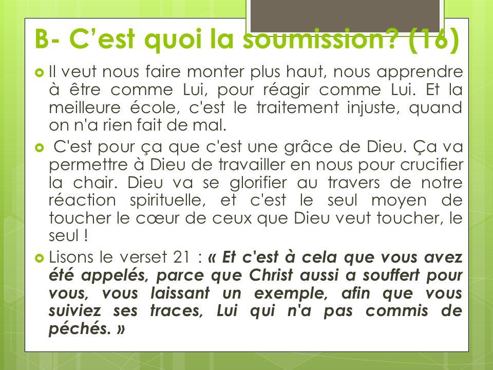 B- C'est quoi la soumission (16)