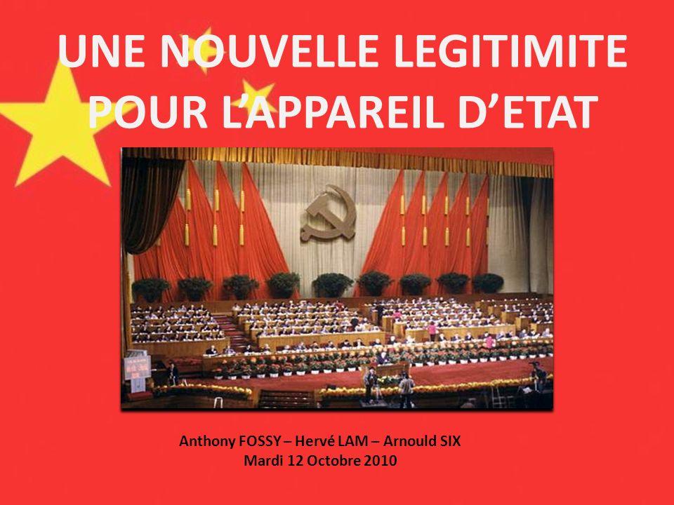 UNE NOUVELLE LEGITIMITE POUR L'APPAREIL D'ETAT