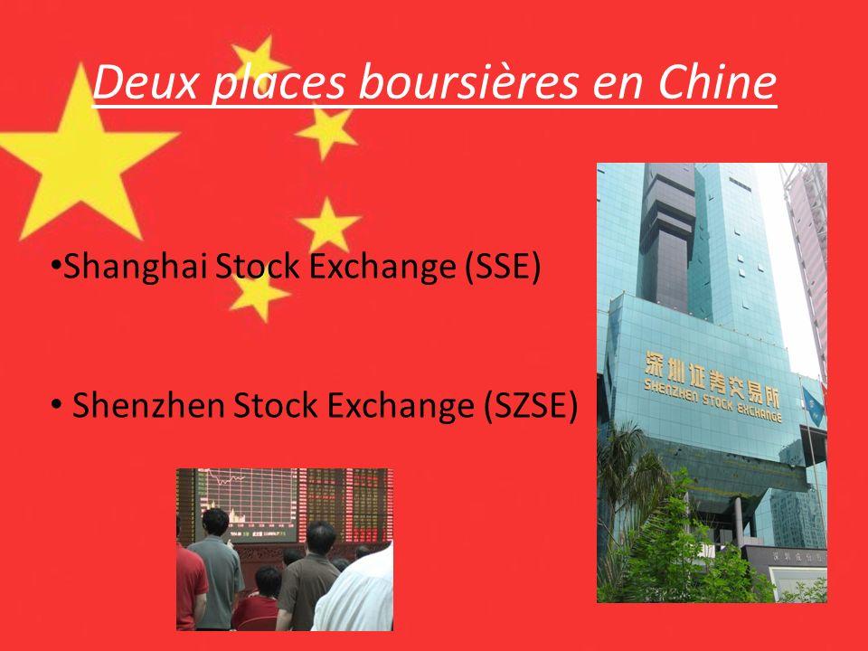 Deux places boursières en Chine
