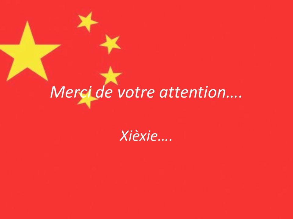 Merci de votre attention….
