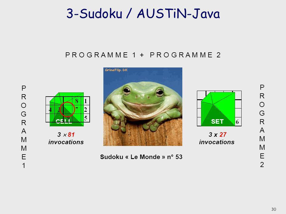 3-Sudoku / AUSTiN-Java P R O G R A M M E 1 + P R O G R A M M E 2