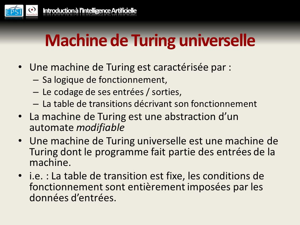 Machine de Turing universelle