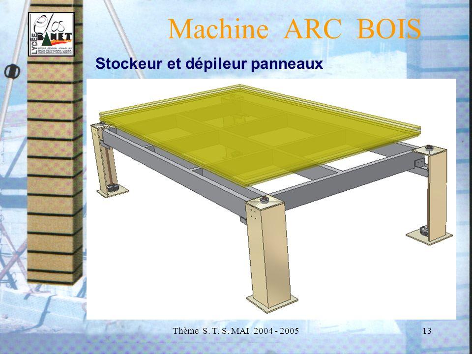 Machine ARC BOIS Stockeur et dépileur panneaux
