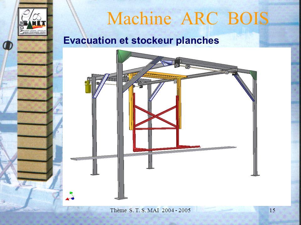 Machine ARC BOIS Evacuation et stockeur planches