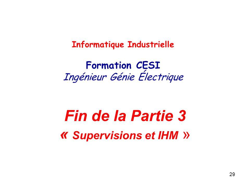 Fin de la Partie 3 « Supervisions et IHM »