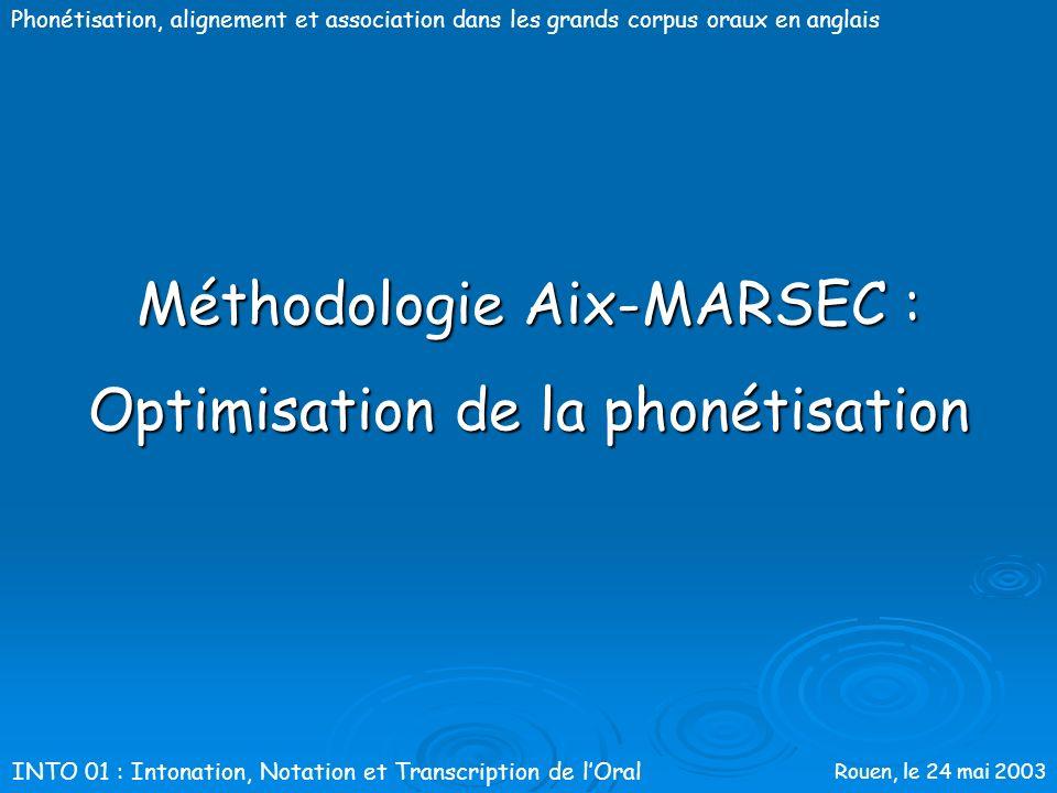 Méthodologie Aix-MARSEC :