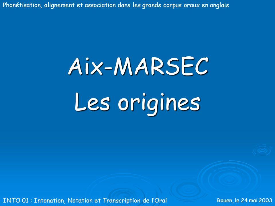 Aix-MARSEC Les origines