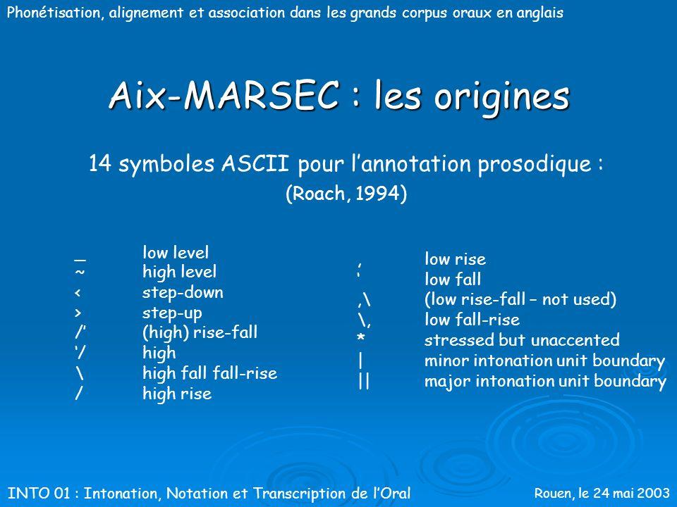 Aix-MARSEC : les origines