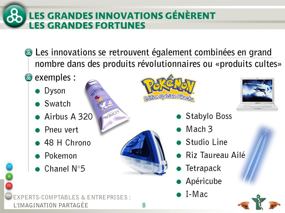 LES GRANDES INNOVATIONS GÉNÈRENT LES GRANDES FORTUNES