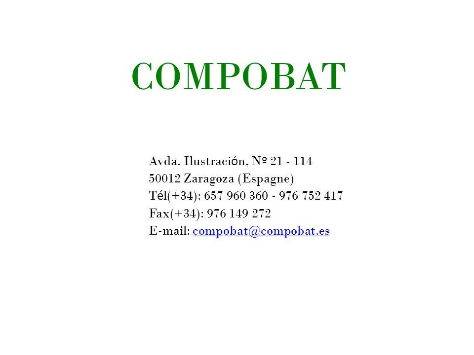 COMPOBAT Avda. Ilustración, Nº 21 - 114 50012 Zaragoza (Espagne)