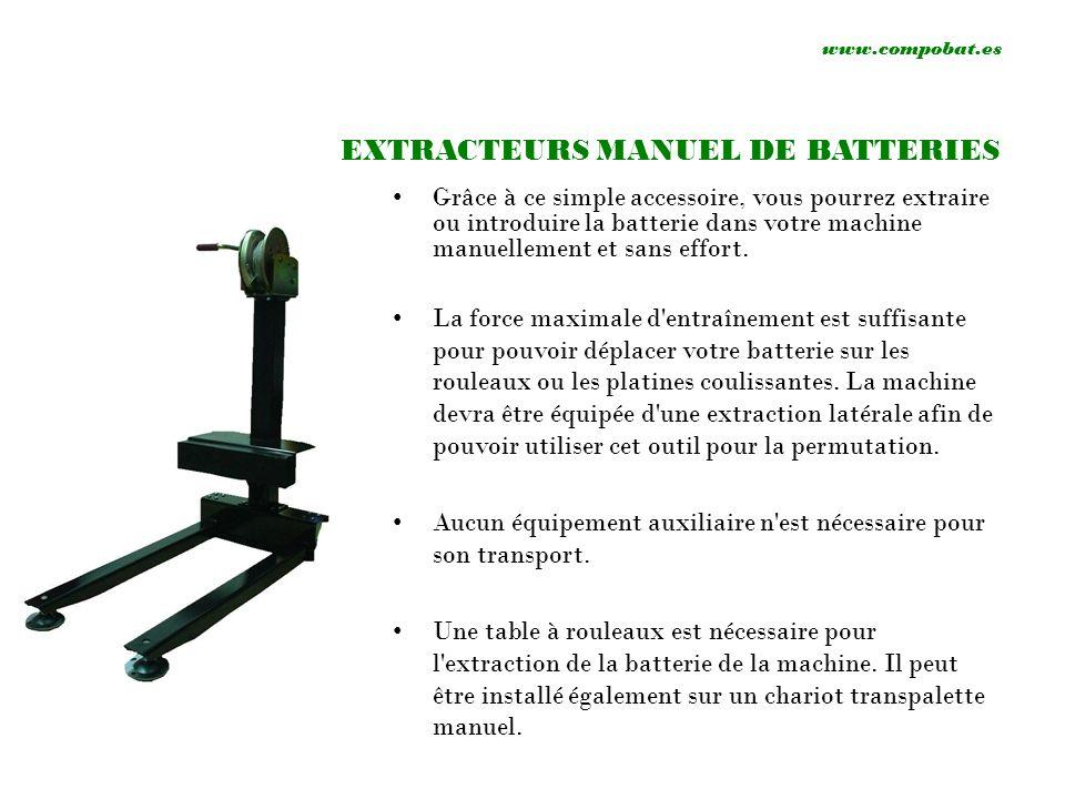 EXTRACTEURS MANUEL DE BATTERIES