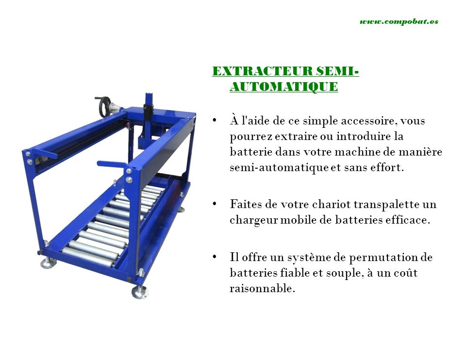 EXTRACTEUR SEMI-AUTOMATIQUE