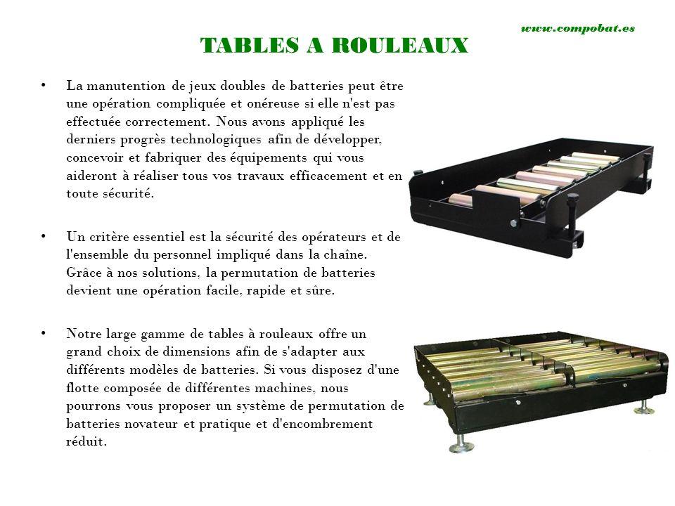 www.compobat.esTABLES A ROULEAUX.