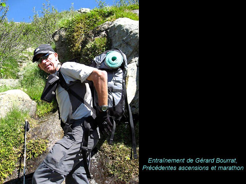 Entraînement de Gérard Bourrat, Précédentes ascensions et marathon