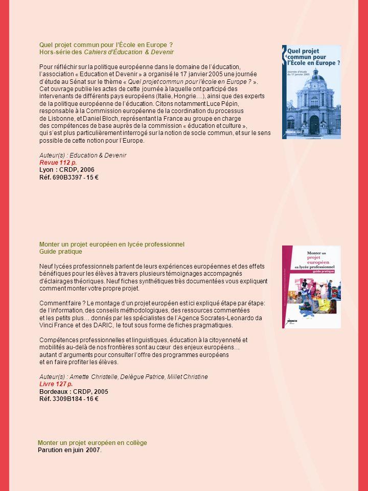 Quel projet commun pour l'École en Europe
