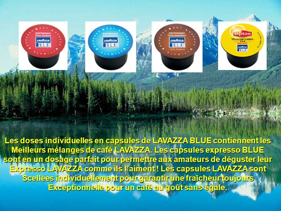 Les doses individuelles en capsules de LAVAZZA BLUE contiennent les