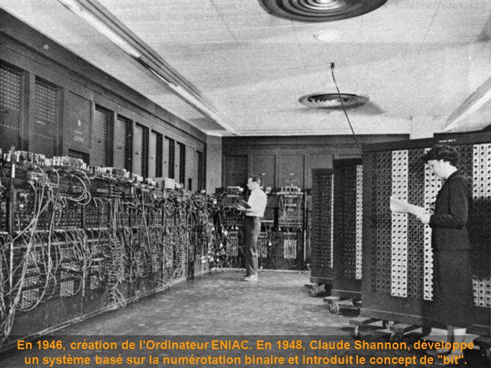 En 1946, création de l Ordinateur ENIAC