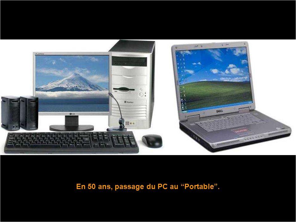 En 50 ans, passage du PC au Portable .